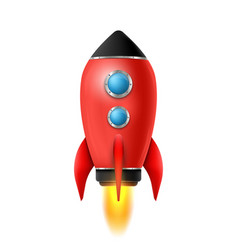 realistic 3d rocket space vector image