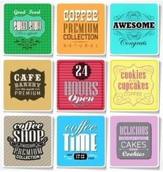 Retro labels and typography vector image