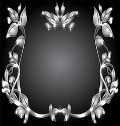 Silver monogram vector