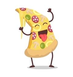 Slice of Pizza in Flat Design vector image