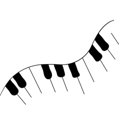 The piano vector image vector image
