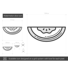 Watermelon line icon vector image