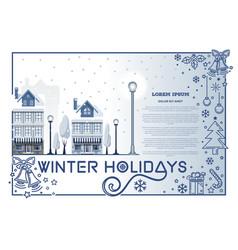Winter holidays design vector