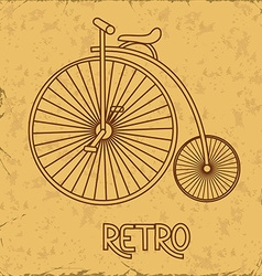 With retro bicycle vector