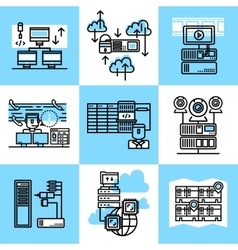 Datacenter Linear Concept vector image