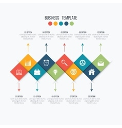 Infographic design 10 options vector