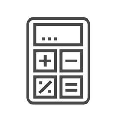 Calculator thin line icon vector