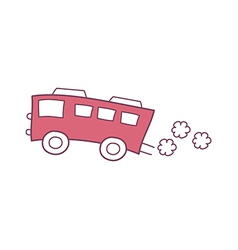The red bus vector image