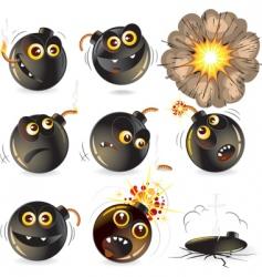 Funny bomb vector