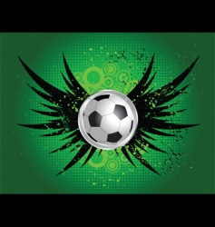 Football grunge wings vector