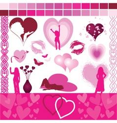 valentine design aids vector image