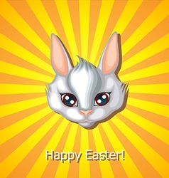 Bunny head white vector