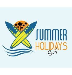 Ilustration of surf summer holidays vector