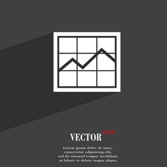 Chart icon symbol flat modern web design with long vector