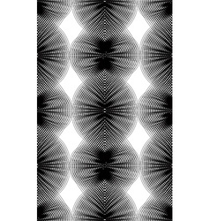 Ornate monochrome abstract background with vector