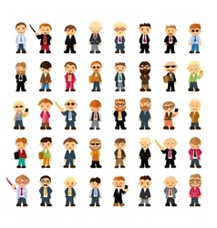 Set of people characters in flat style vector