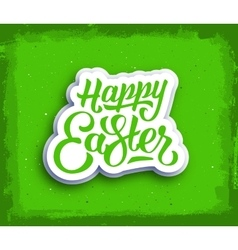 Happy easter hand lettering text vector
