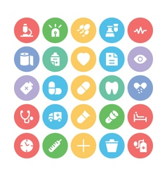 Medical Colored Icons 7 vector image