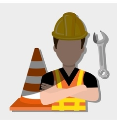 Construction worker design vector