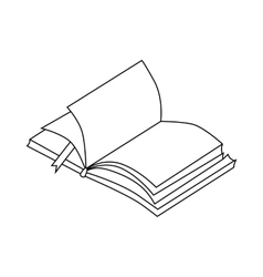 Book with bookmark icon outline style vector