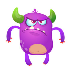 angry cartoon monster for halloween vector image vector image