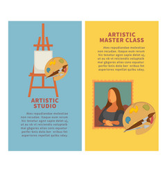 artist studio paiting materials and creative art vector image vector image