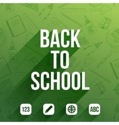 Background back to school vector