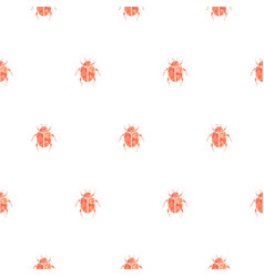 beetle rose gold and white seamless pattern vector image vector image