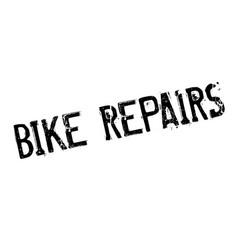 Bike repairs rubber stamp vector