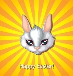 Bunny head white vector