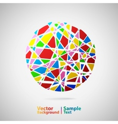 Circle from many parts vector image vector image