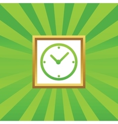 Clock picture icon vector