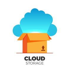 cloud storage vector image