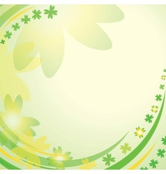clover leaves vector image vector image