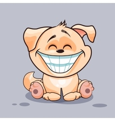 Dog with huge smile vector