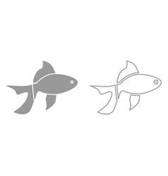 fish it is black icon vector image vector image