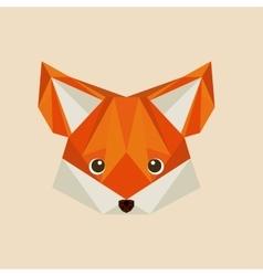 Fox low poly vector
