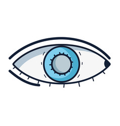 Heathy eye vision and optical care vector