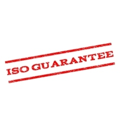 Iso guarantee watermark stamp vector