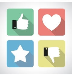 Like and dislike icons set vector
