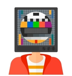 Man with TV head vector image