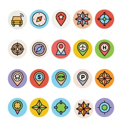 Map and Navigation Icons 3 vector image