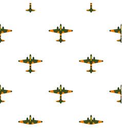 Military plane pattern flat vector
