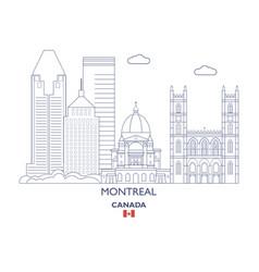 montreal city skyline vector image vector image