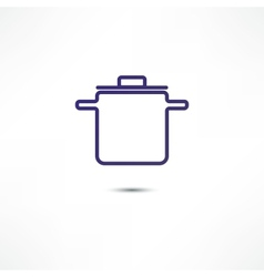 Pan Of Food Icon vector image