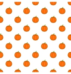Pumpkin pattern cartoon style vector