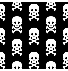 Skull Seamless pattern background white black vector image vector image