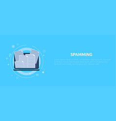 spamming in computer mail vector image
