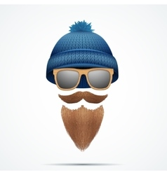 Symbol of Hipster and Lamberjack vector image vector image