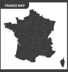 the detailed map of the france with regions vector image